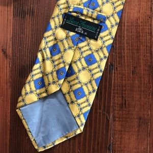 Luca Franzini Accessories - Luca Franzini Gold and Blue Made in Italy Tie